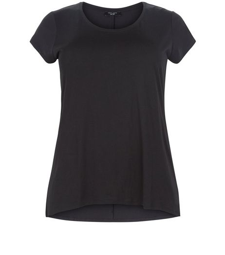 Curves Black Short Sleeve T-Shirt  | New Look