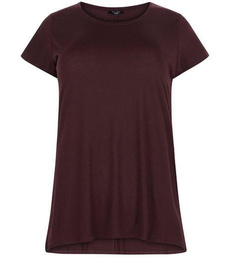 Curves Burgundy T-Shirt | New Look