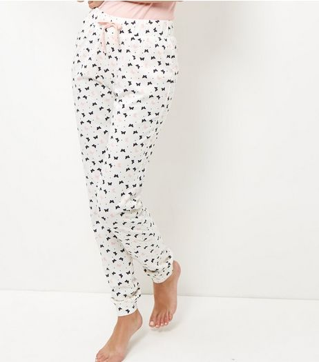 White Butterfly Print Pyjama Bottoms | New Look
