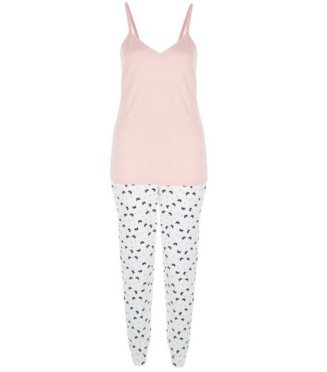 Petite Blue Butterfly Print Pyjama Set | New Look
