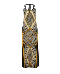 Blue Vanilla Yellow Aztec Print Maxi Dress | New Look