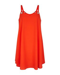 Blue Vanilla Orange Eyelet Cami Slip Dress | New Look