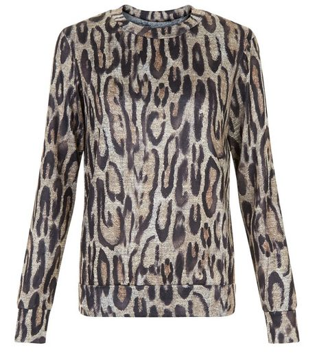 Brown Leopard Print Long Sleeve Top | New Look