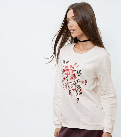 Anita and Green Floral Embroidered Jumper  | New Look
