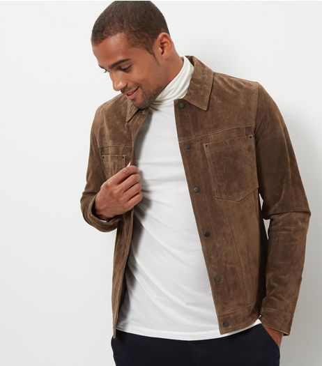 Dark Brown Suede Jacket | New Look