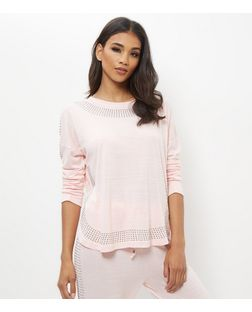 Mid Pink Space Dye Studded Sweater | New Look