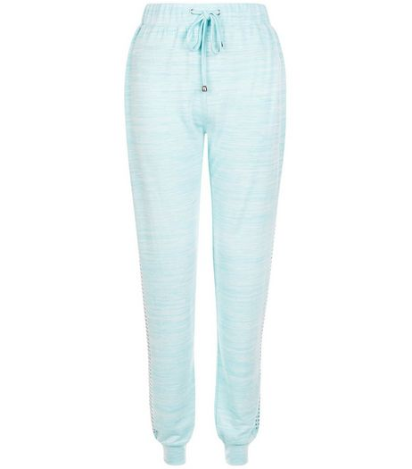 Mint Green Space Dye Cuffed Joggers | New Look