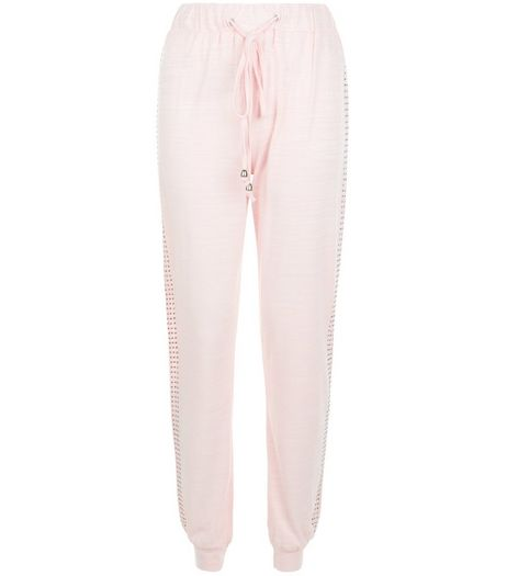 Mid Pink Space Dye Cuffed Joggers | New Look