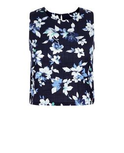 Cameo Rose Blue Floral Print Crop Top | New Look