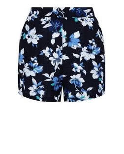 Cameo Rose Blue Floral Print Shorts  | New Look