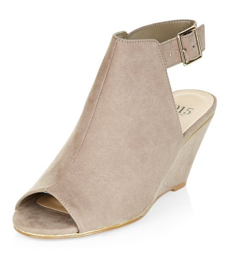 Teens Light Brown Suedette Wedges | New Look