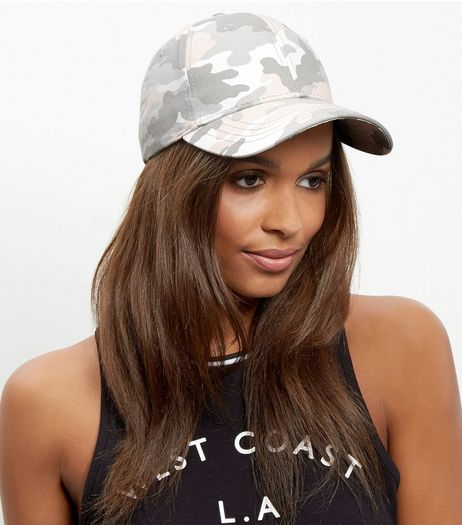 Pink Camo Print Cap | New Look