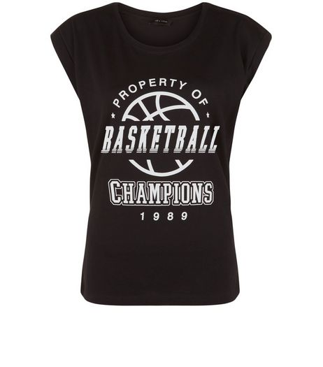 Black Basketball Champions T-Shirt | New Look
