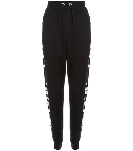 Teens Black Ninety Seven Panel Joggers | New Look