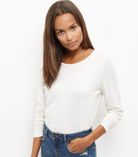 Tall Cream Long Sleeve Top | New Look
