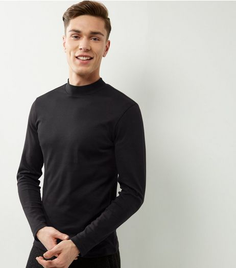 Black Cotton Turtle Neck Top | New Look