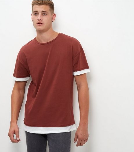 Rust Layered T-Shirt  | New Look