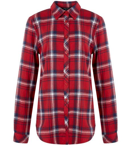 Teens Red Long Sleeve Check Shirt | New Look