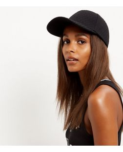 Black Quilted Cap | New Look
