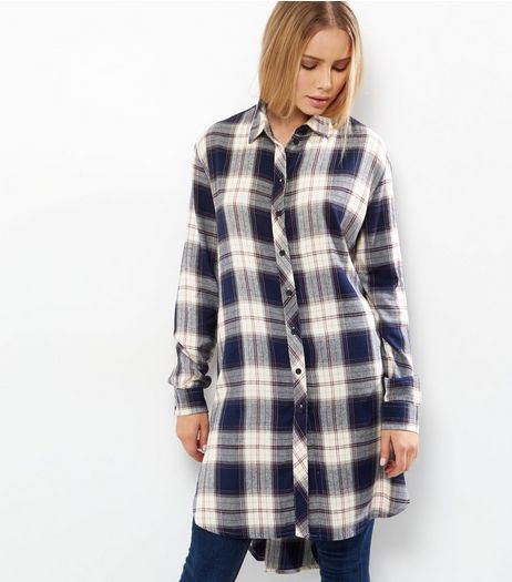 JDY Blue Check Shirt Dress | New Look