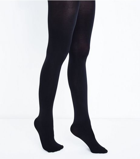 Black Premium 80 Denier Tights | New Look