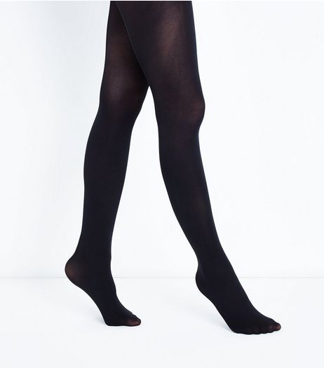 Black Premium 50 Denier Tights | New Look
