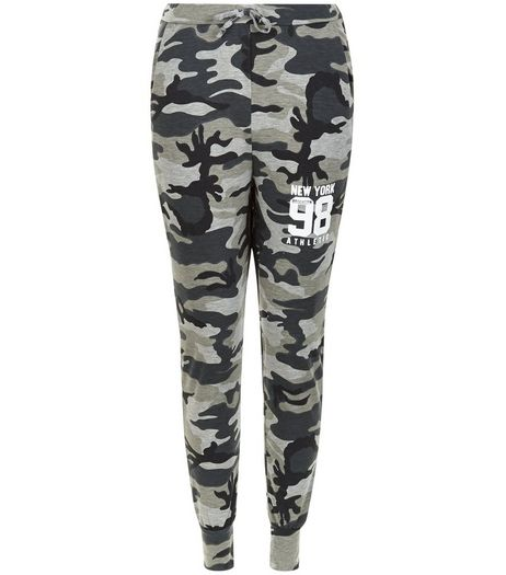 Cameo Rose Green Camo 98 Print Joggers  | New Look