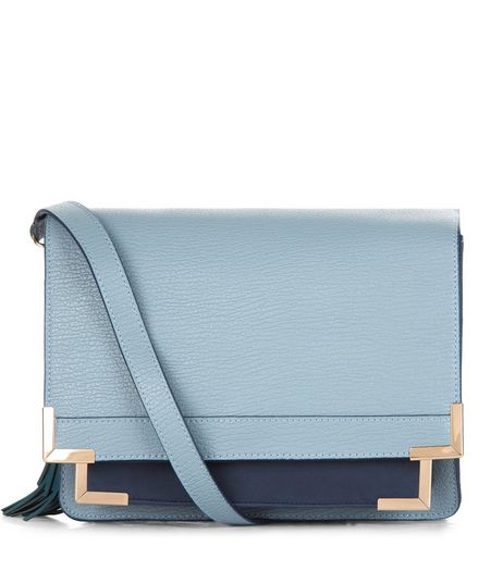 Blue Contrast Square Satchel  | New Look