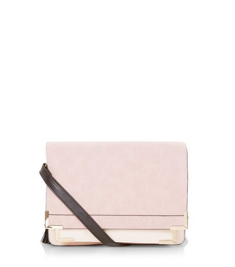 Pink Contrast Square Satchel | New Look
