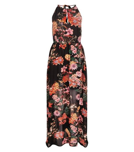 Blue Vanilla Black Tropcal Print Maxi Dress | New Look