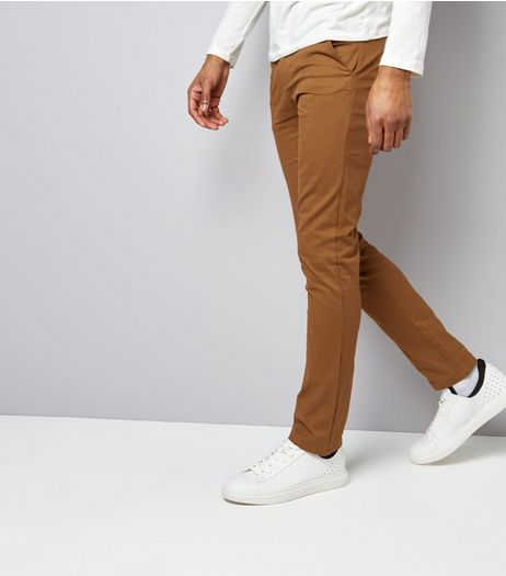 Camel Skinny Chinos | New Look