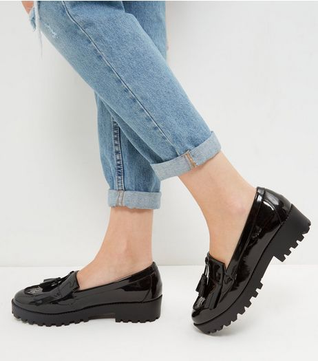 Black Chunky Loafers | New Look