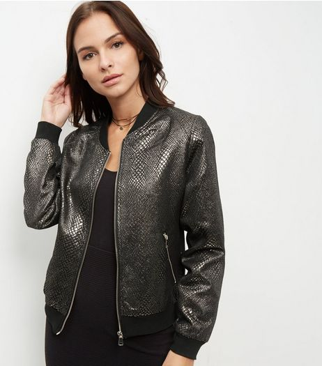 Anita and Green Gold Metallic Bomber Jacket  | New Look