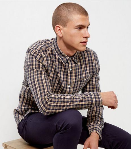 Brown Check Print Long Sleeve Shirt | New Look