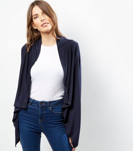 Mela Navy Waterfall Cardigan | New Look