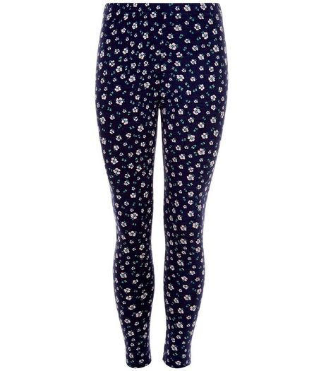 Girls Blue Ditsy Floral Leggings | New Look