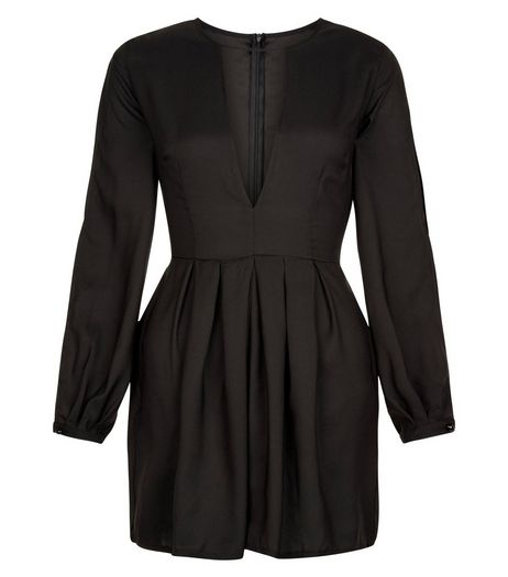 AX Paris Black Cut Out Front Playsuit | New Look