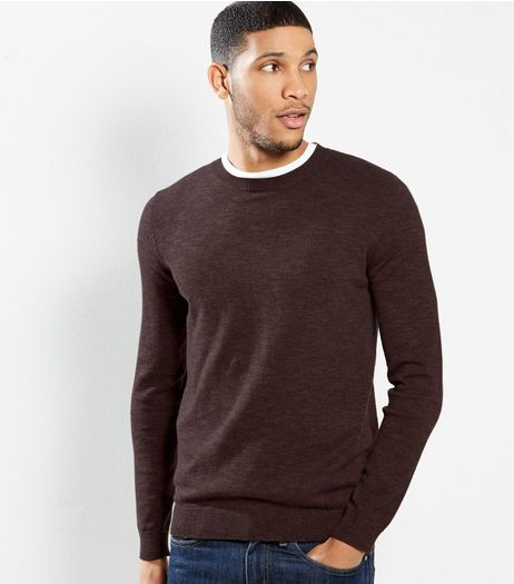Brown Cotton Crew Neck Jumper | New Look