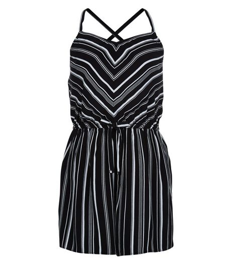 Teens Black Chevron Print Playsuit | New Look