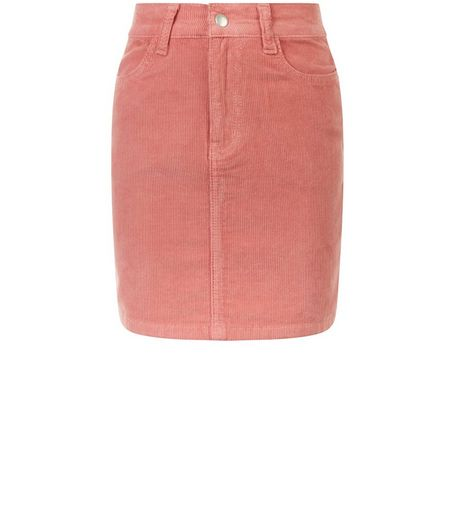 Girls Mid Pink Cord Skirt | New Look
