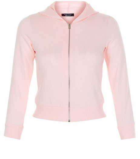 Girls Mid Pink #Unicorn Tape Zip Up Hoodie | New Look