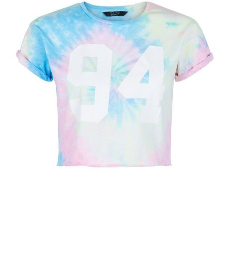Teens Pink Tie Dye 94 Print T-shirt | New Look