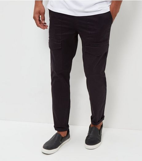 Black Cargo Trousers | New Look