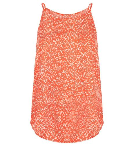 Apricot Coral Mottled Print Cami | New Look