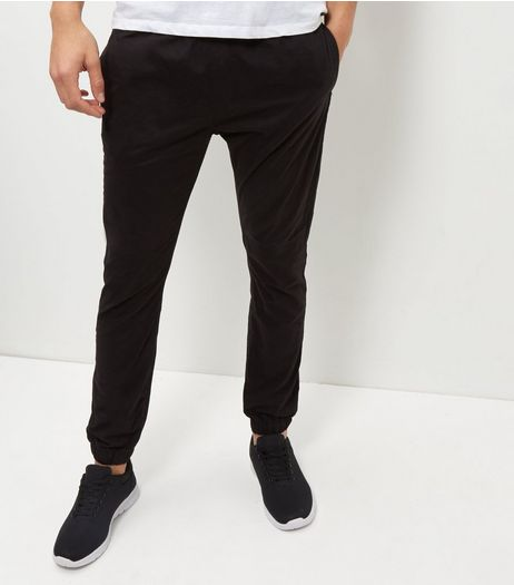 Black Woven Cuffed Joggers | New Look