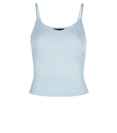 Teens Blue Ribbed Cami | New Look