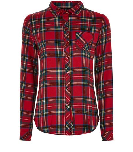 Teens Red Tartan Check Long Sleeve Shirt | New Look