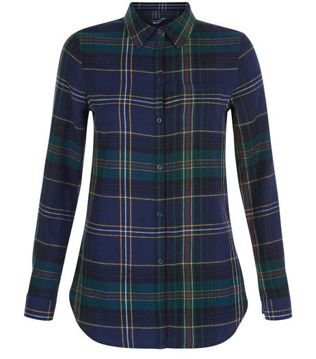 Teens Blue Check Longline Shirt | New Look