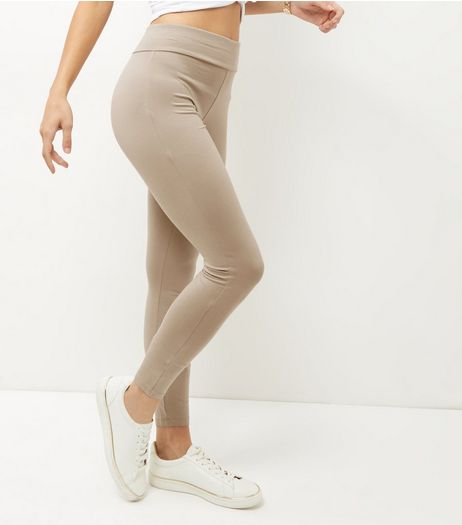 Camel High Waisted Leggings | New Look