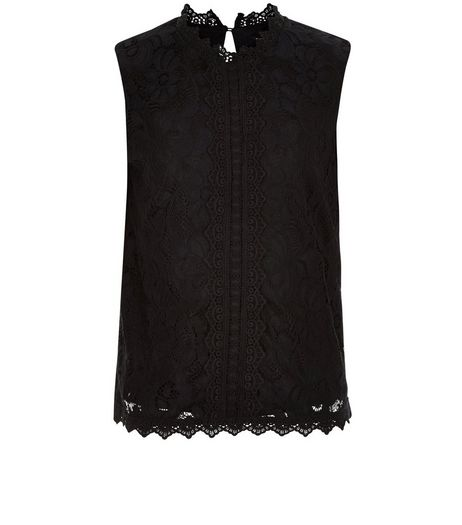 Teens Black Lace Sleeveless Top | New Look